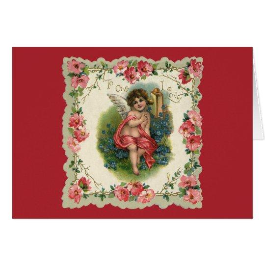 Vintage Victorian Valentine's Day, Cherub on Phone Card