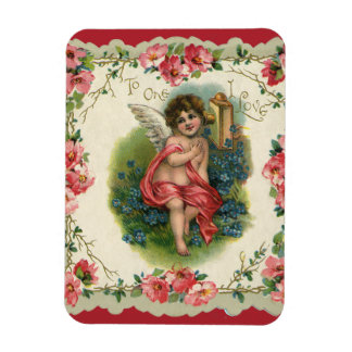 Vintage Victorian Valentine's Day, Cherub on Phone Magnet