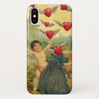 Vintage Victorian Valentine's Day, Cherubs Hearts iPhone X Case