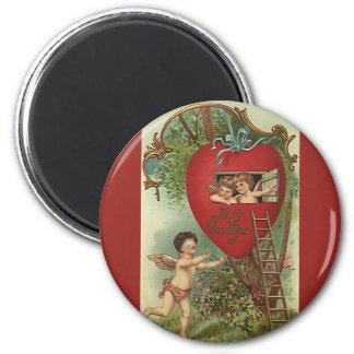 Vintage Victorian Valentines Day Cherubs Treehouse Magnet