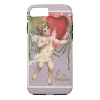 Vintage Victorian Valentine's Day Cupid with Heart iPhone 8/7 Case
