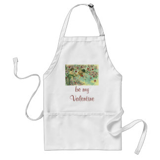 Vintage Victorian Valentines Day Cupids Heart Tree Adult Apron