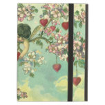 Vintage Victorian Valentines Day Cupids Heart Tree iPad Air Cover