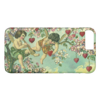 Vintage Victorian Valentines Day Cupids Heart Tree iPhone 8 Plus/7 Plus Case