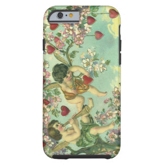 Vintage Victorian Valentines Day Cupids Heart Tree Tough iPhone 6 Case