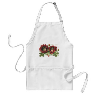 Vintage Victorian Valentine's Day, Faces in Roses Adult Apron