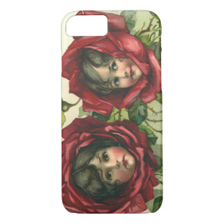 Vintage Victorian Valentine's Day, Faces in Roses iPhone 7 Case
