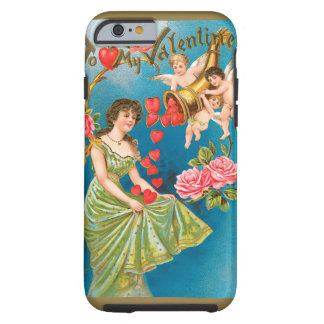 Vintage Victorian Valentine's Day, Girl and Angels Tough iPhone 6 Case
