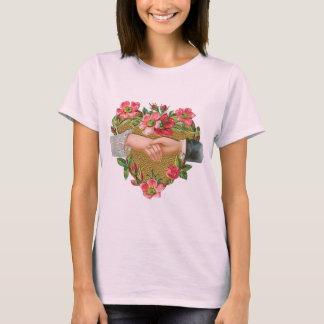 Vintage Victorian Valentine's Day, Hands w Flowers T-Shirt