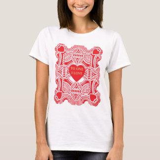 Vintage Victorian Valentine's Day, Hearts Die Cut T-Shirt