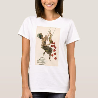Vintage Victorian Valentine's Day, Lady and Hearts T-Shirt