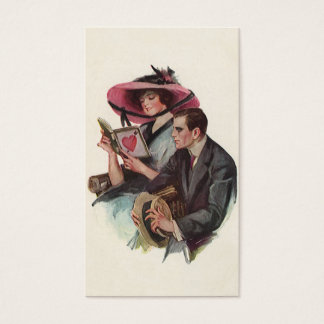 Vintage Victorian Valentine's Day Love and Romance Business Card