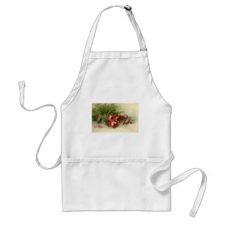 Vintage Victorian Valentine's Day, Red Roses Adult Apron
