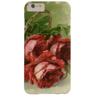 Vintage Victorian Valentine's Day, Red Roses Barely There iPhone 6 Plus Case