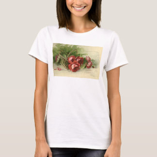 Vintage Victorian Valentine's Day, Red Roses T-Shirt