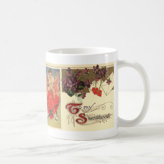 Vintage Victorian Valentine's Day To My Sweetheart Coffee Mug