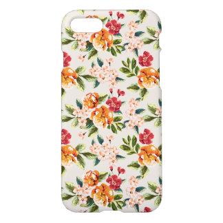 Vintage Victorian Watercolor Floral Pattern iPhone 7 Case