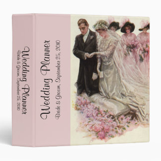 Vintage Victorian Wedding Ceremony, Bride Groom 3 Ring Binder