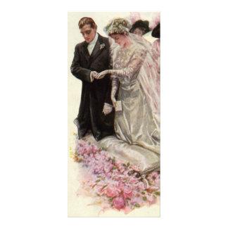 Vintage Victorian Wedding Ceremony Bride Groom Custom Rack Card