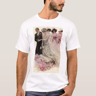 Vintage Victorian Wedding Ceremony, Bride Groom T-Shirt
