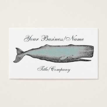 Professional Business Vintage Victorian Whale Business Card