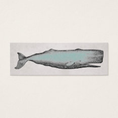 Vintage Victorian Whale Business Or Personal Mini Business Card at Zazzle