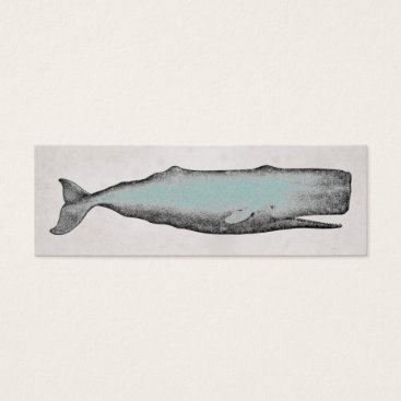Beach Themed Vintage Victorian Whale Business or Personal Mini Business Card