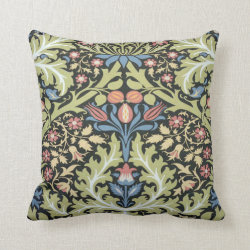 Vintage Victorian William Morris Pillow Throw