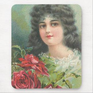 Vintage Victorian Woman Portrait Mouse Pad