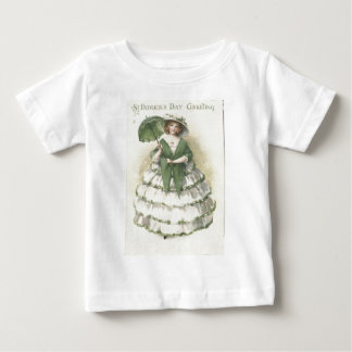 Vintage Victorian Woman St Patrick's Day Card Baby T-Shirt
