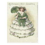 Vintage Victorian Woman St Patrick's Day Card Post Cards