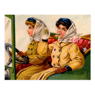Vintage Victorian Women Trading Automobile Card