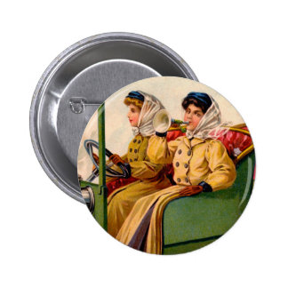 Vintage Victorian Women Trading Automobile Card Buttons