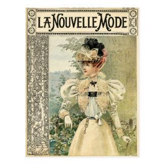 Vintage Victoriana Le Nouvelle Monde Postcard