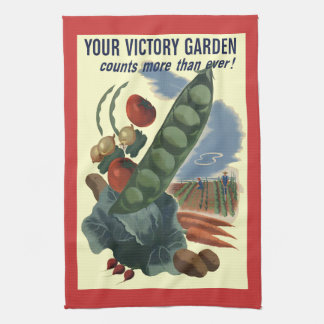 Vintage Victory Garden Kitchen Towel