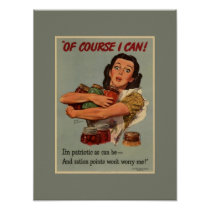 Vintage Victory Garden Of Course I Can Poster