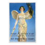 Vintage Victory War Savings Stamps Poster Print