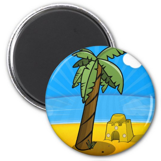Vintage Video Game Palm Trees. Magnet