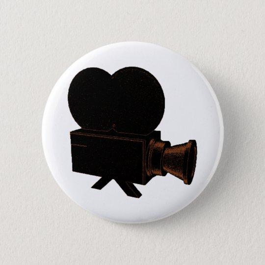 Vintage Video Pinback Button