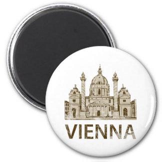 Vintage Vienna 2 Inch Round Magnet