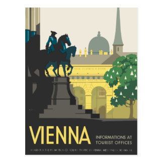 Vintage Vienna Austria Joseph's Square Travel Postcard