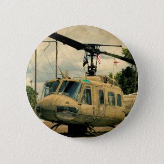 Vintage Vietnam Era Uh-1 Huey Military Helicopter Button