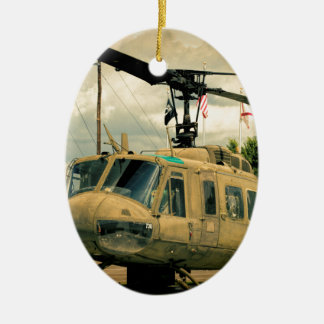 Vintage Vietnam Era Uh-1 Huey Military Helicopter Ceramic Ornament