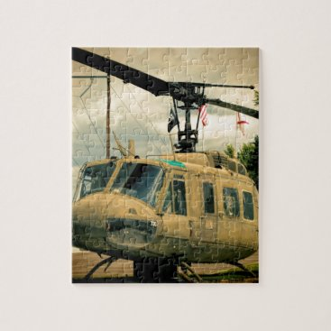Vintage Vietnam Era Uh-1 Huey Military Helicopter Jigsaw Puzzle