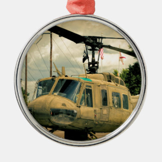 Vintage Vietnam Era Uh-1 Huey Military Helicopter Metal Ornament