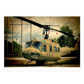Vintage Vietnam Era Uh-1 Huey Military Helicopter Postcard