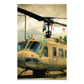 Vintage Vietnam Era Uh-1 Huey Military Helicopter Stationery