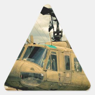 Vintage Vietnam Era Uh-1 Huey Military Helicopter Triangle Sticker