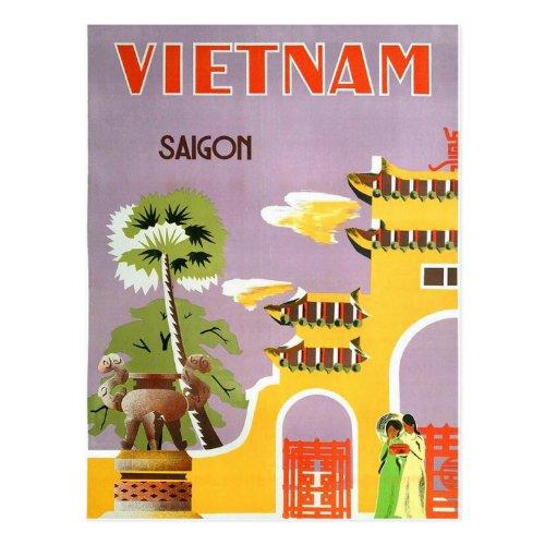 Vintage Vietnam Saigon Travel Postcard