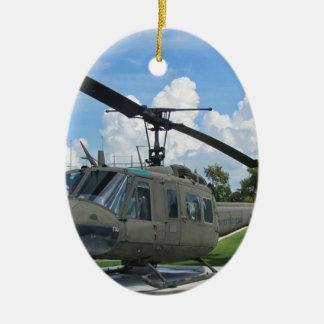 Vintage Vietnam Uh-1 Huey Military Helicopter Ceramic Ornament